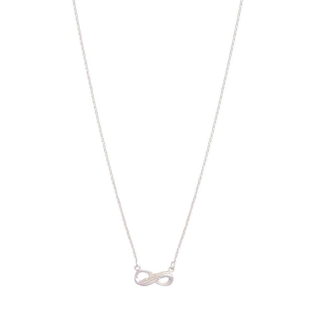 Sterling Silver Diamante Infinity Pendant Necklace