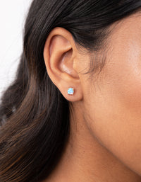 Sterling Silver Opalised Stud