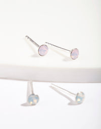 Sterling Silver Swarovski Stud Earring Duo - link has visual effect only