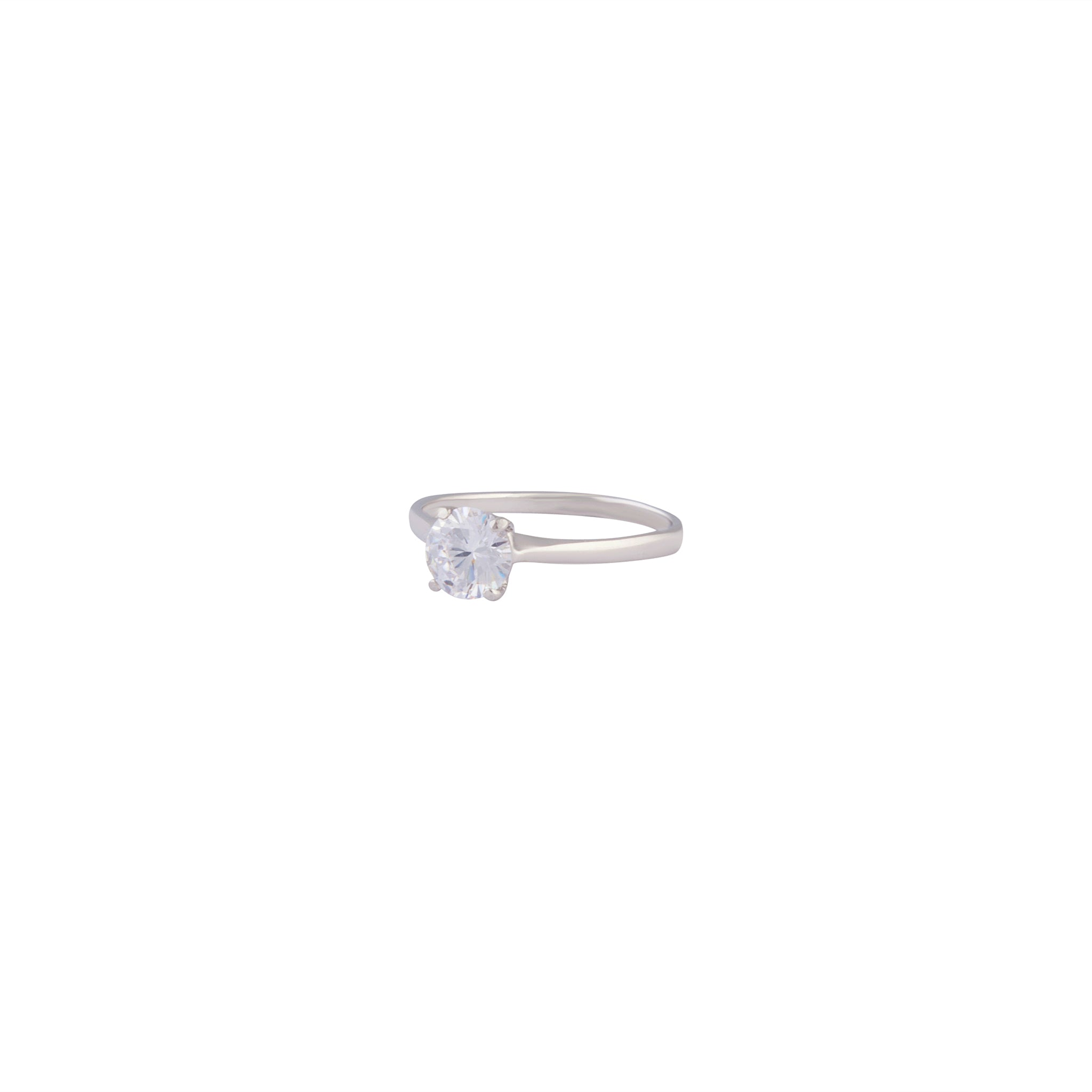 Sterling Silver Diamante Stone Ring