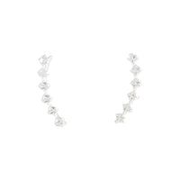 Sterling Silver Diamante Ear Pin - link has visual effect only