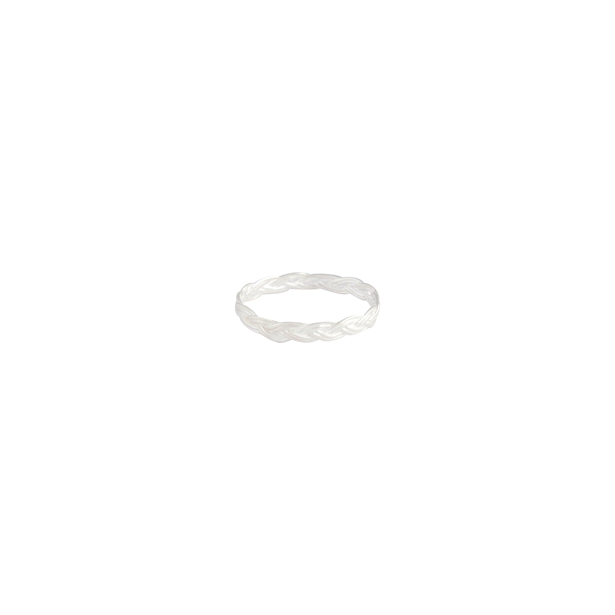Sterling Silver Plaited Band Ring