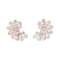 Rose Gold Crystal Marquise Half Moon Stud Earring - link has visual effect only