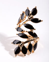 Black Leaf Wrap Ring - link has visual effect only