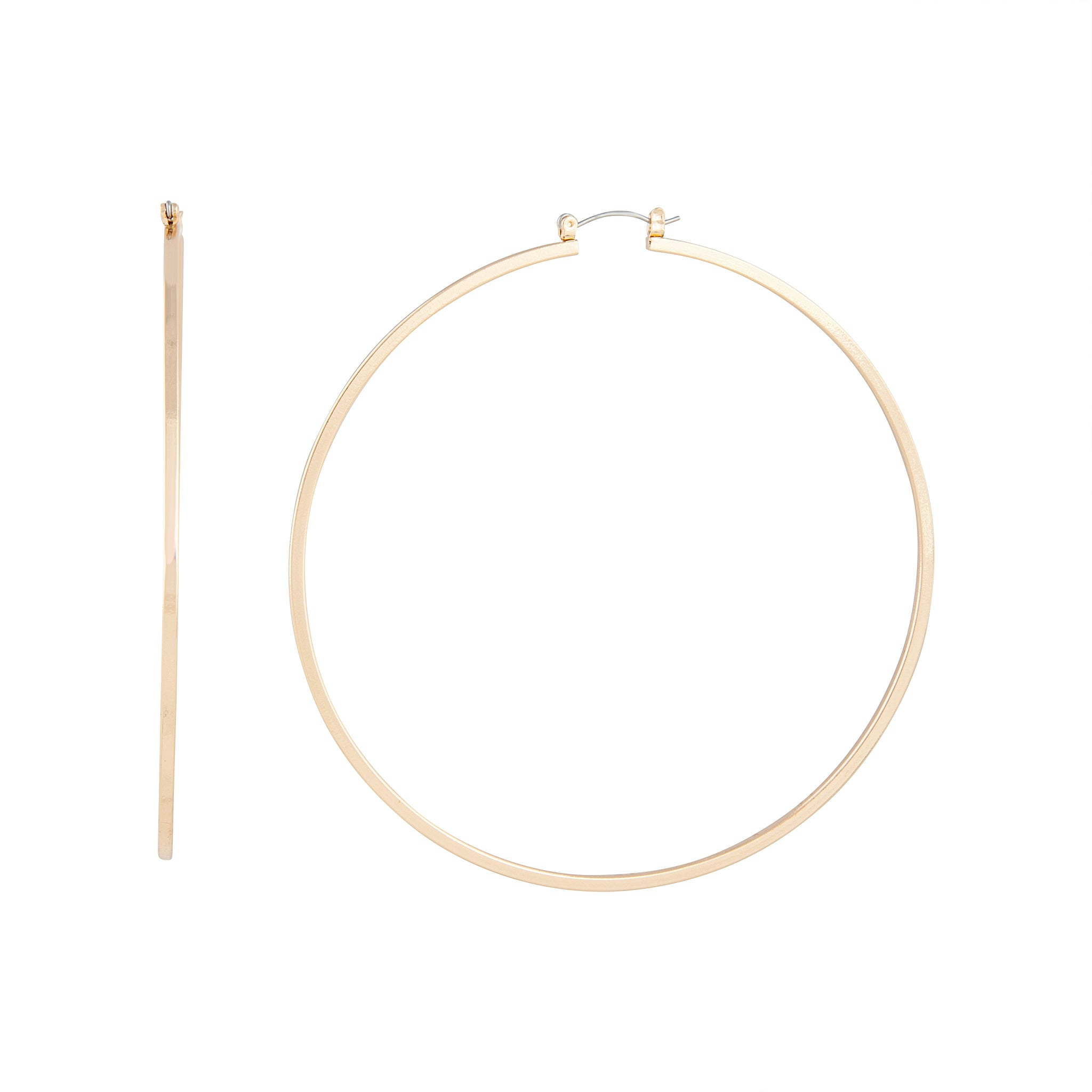 Polished Gold Large Hoop Earring