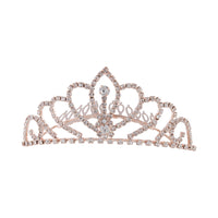 Rose Gold Crystal Diamante Tiara - link has visual effect only