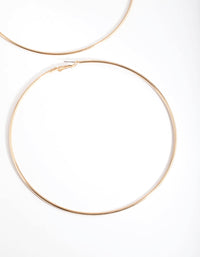 Gold Oversized Hoop Earring - link has visual effect only