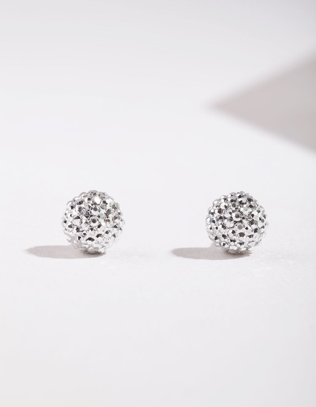 Silver Mini Fireball Stud Earrings