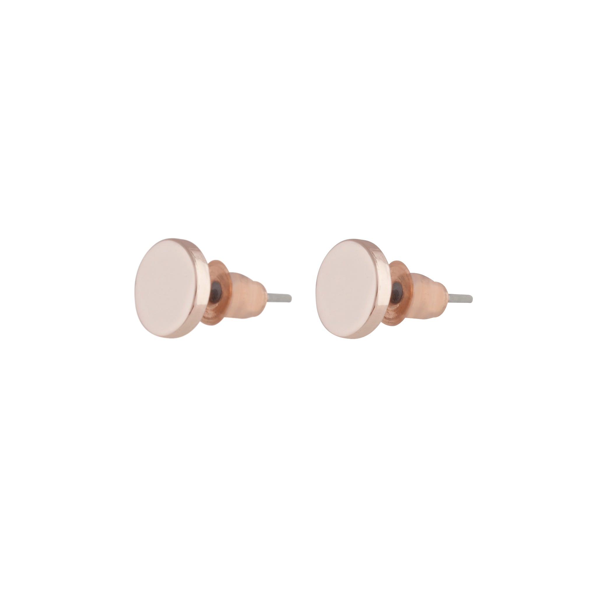 Rose Gold Disc Stud