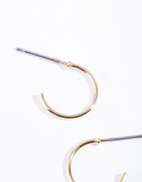 Gold Mini Hoop Earrings - link has visual effect only