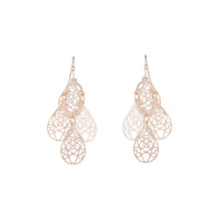 Rose Gold Filigree Teardrop Cluster Earring | Earrings | Lovisa Jewellery Australia | Gift Idea Girl