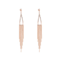 Rose Gold Diamante Point and Tassel Earring | Earrings | Lovisa Jewellery Australia | Gift Idea Girl
