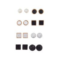 Glitter Shape 8 Pack Stud Earrings - link has visual effect only