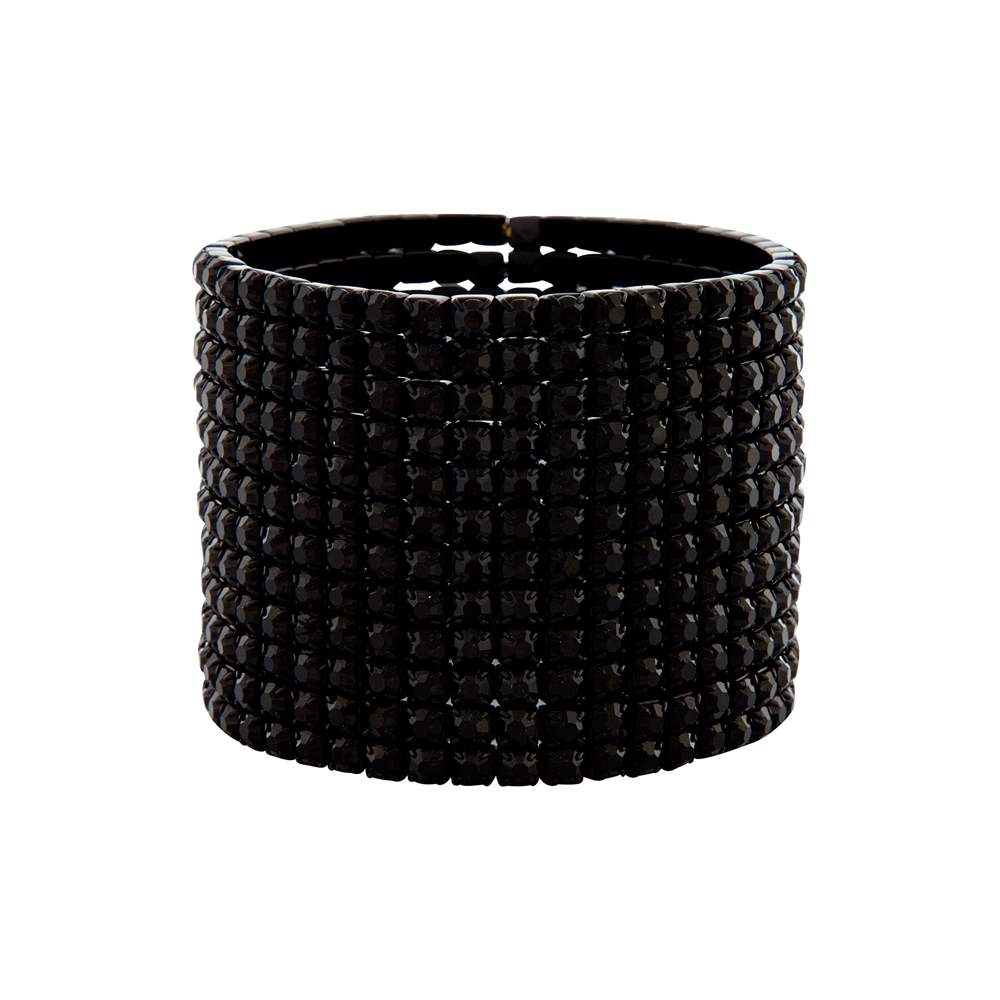 Black Multi Diamante Stretch Bracelet