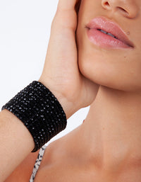 Black Multi Diamante Stretch Bracelet - link has visual effect only