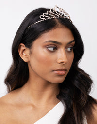 Rose Gold Diamante Tiara - link has visual effect only