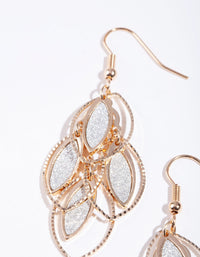 Gold Glitter Charm Earring - link has visual effect only