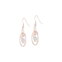 Rose Gold Diamante Bead Double Circle Earring | Earrings | Lovisa Jewellery Australia | Gift Idea Girl