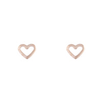 Rose Gold Open Heart Stud Earring | Earrings | Lovisa Jewellery Australia | Gift Idea Girl