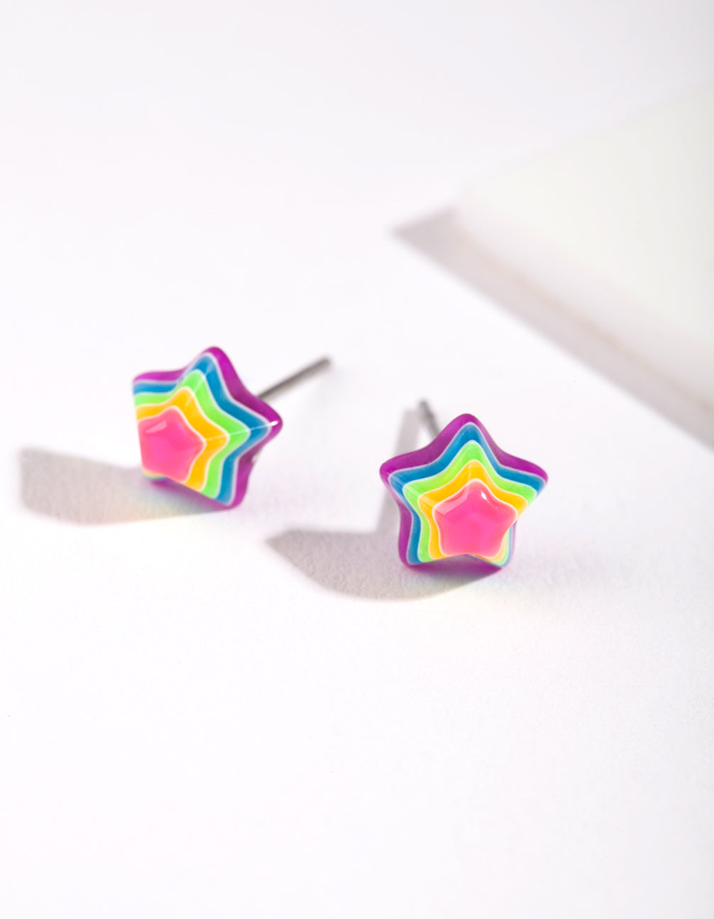 Rainbow Mini Star Stud Earrings