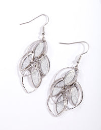 Silver Glitter Layered Earring - link has visual effect only