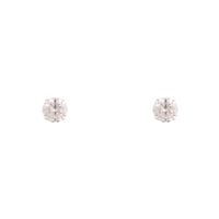 Sterling Silver Cubic Zirconia 2 CT Stud Earring