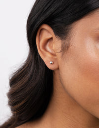 Sterling Silver Mini Ball Stud Earring - link has visual effect only