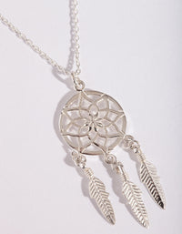 Sterling Silver Dreamcatcher Necklace - link has visual effect only