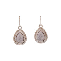 Pink Centre Stone With Diamante Teardrop Earring - link has visual effect only