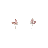 Rhodium Metal Fairy Stud Earrings - link has visual effect only