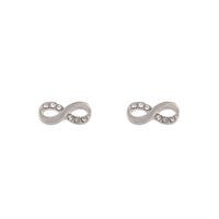 Rhodium Infinity Diamante Earring