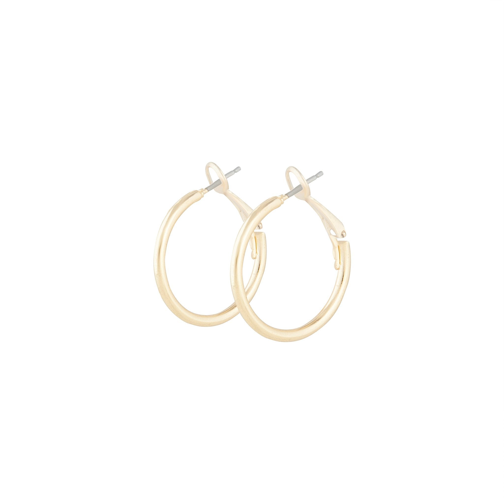 Polished Gold Dainty Hoop Earring