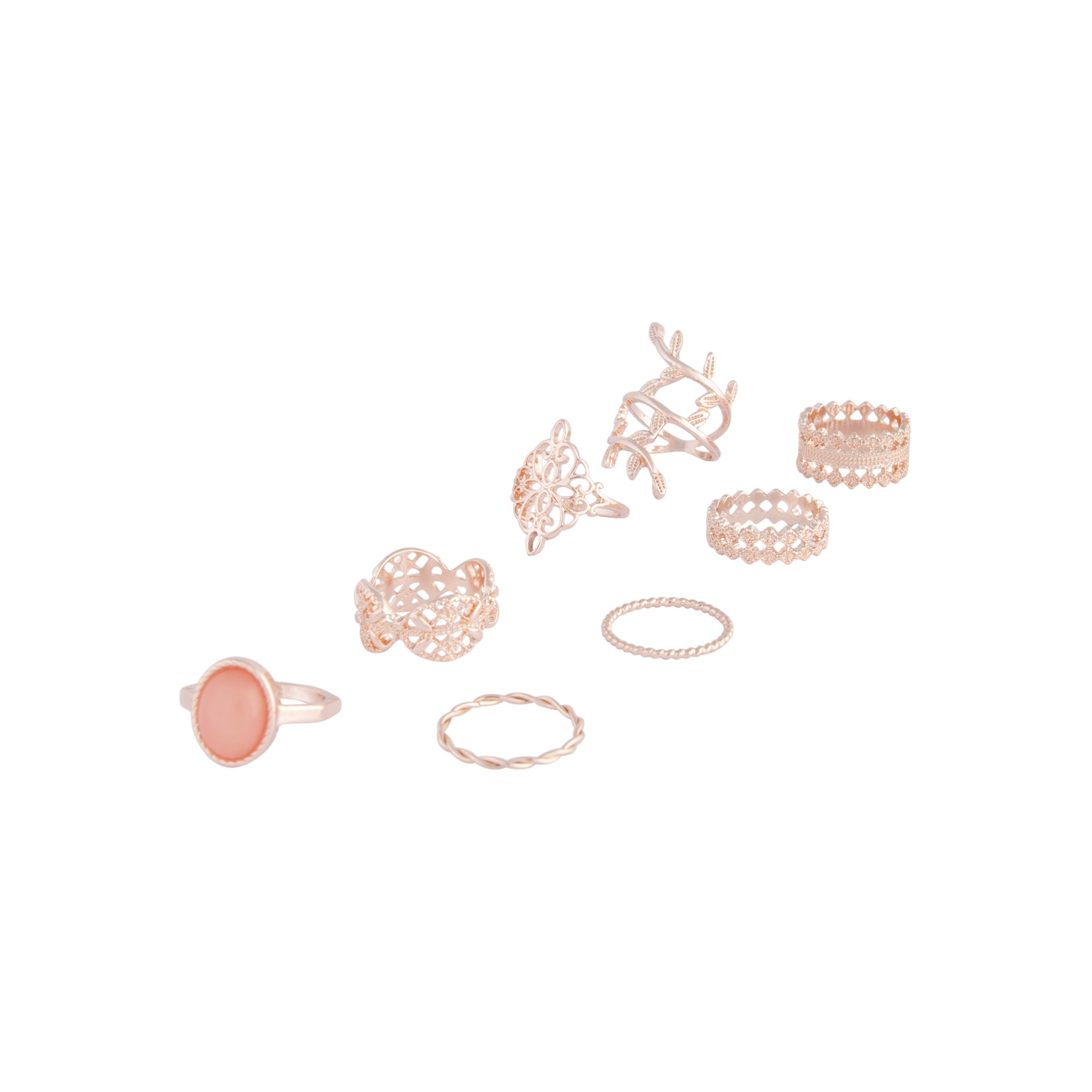 Rose Gold Ornate Lead Ring 8 Pack
