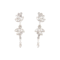 Silver Navette Crystal Drop Earring - link has visual effect only