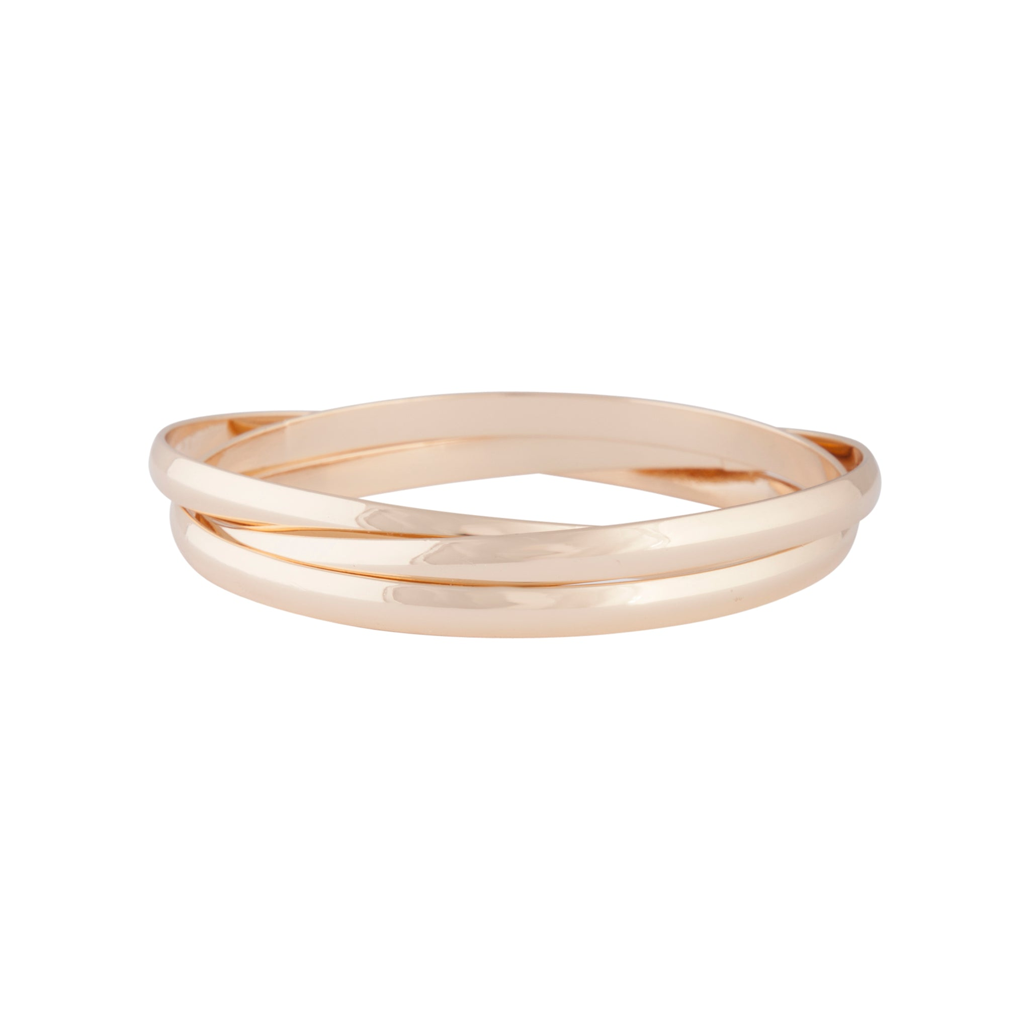 Gold Trio Linked Bangle