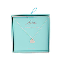 Sterling Silver Engrave Me Heart Necklace - link has visual effect only