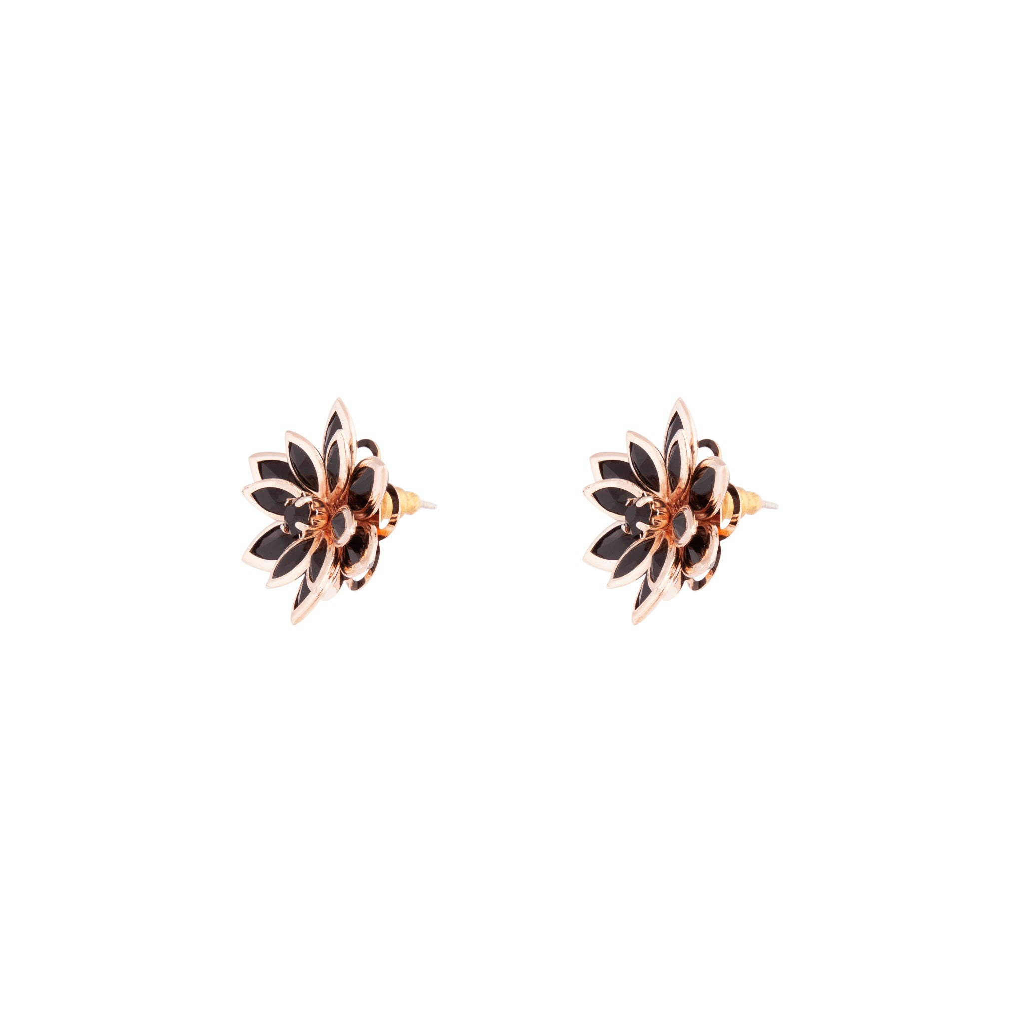 Rose Gold Crystal Flower Earring