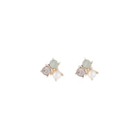 Rose Gold Pearl Tiny Cluster Earring
