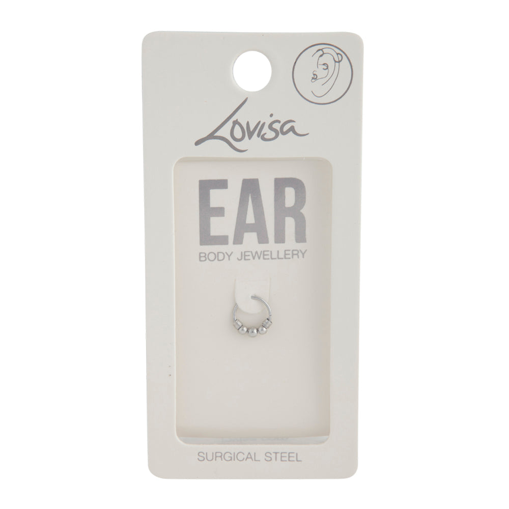 Silver Trio Ball Earring