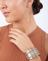 Fine Celestial Thread Drop Earrings - link has visual effect only