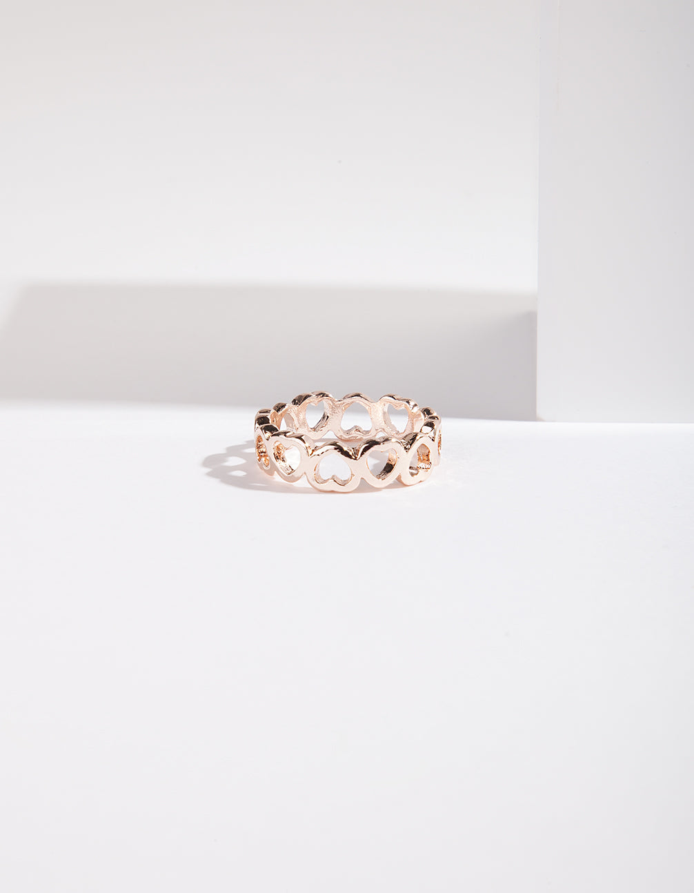 Rose Gold Heart Band Ring