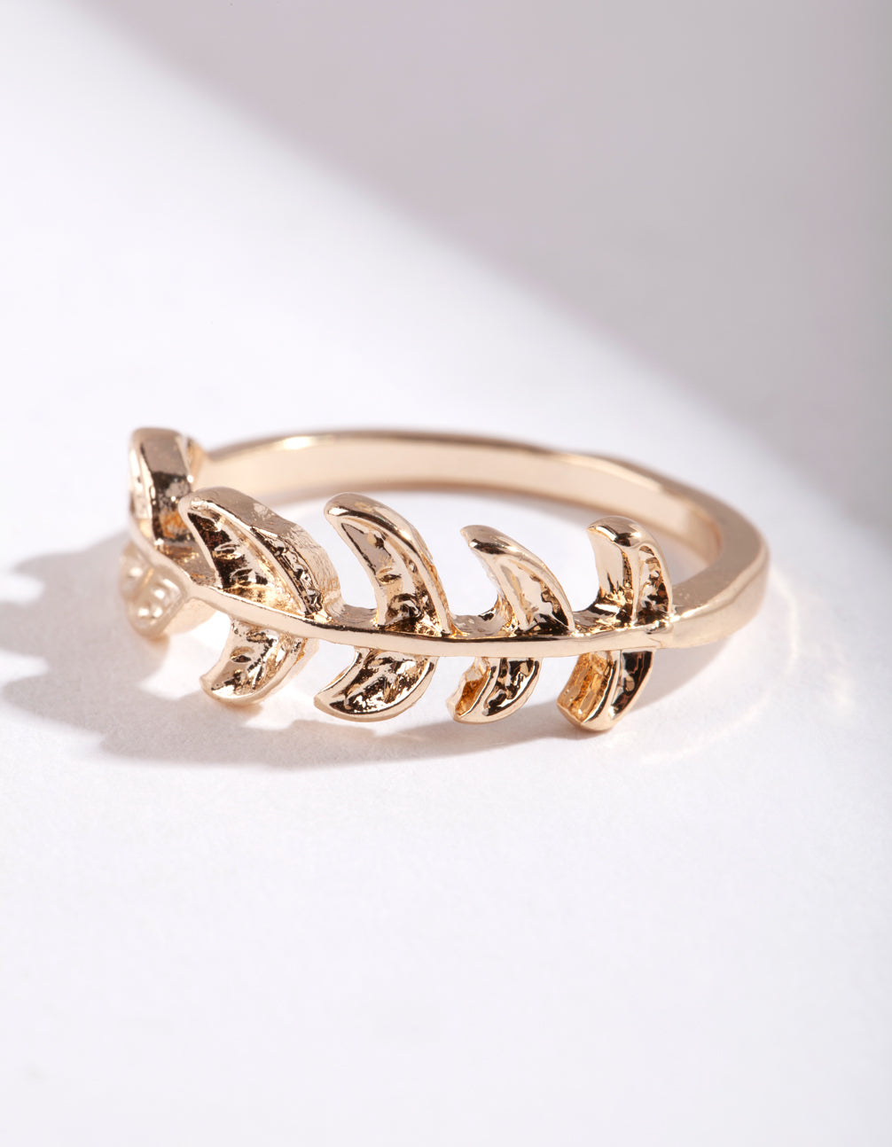 Gold Leaf Band Ring
