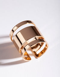 Gold Triple Tube Ring - link has visual effect only