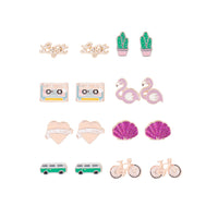 Mixed Metal Legit Beach 8 Pack Earring - link has visual effect only