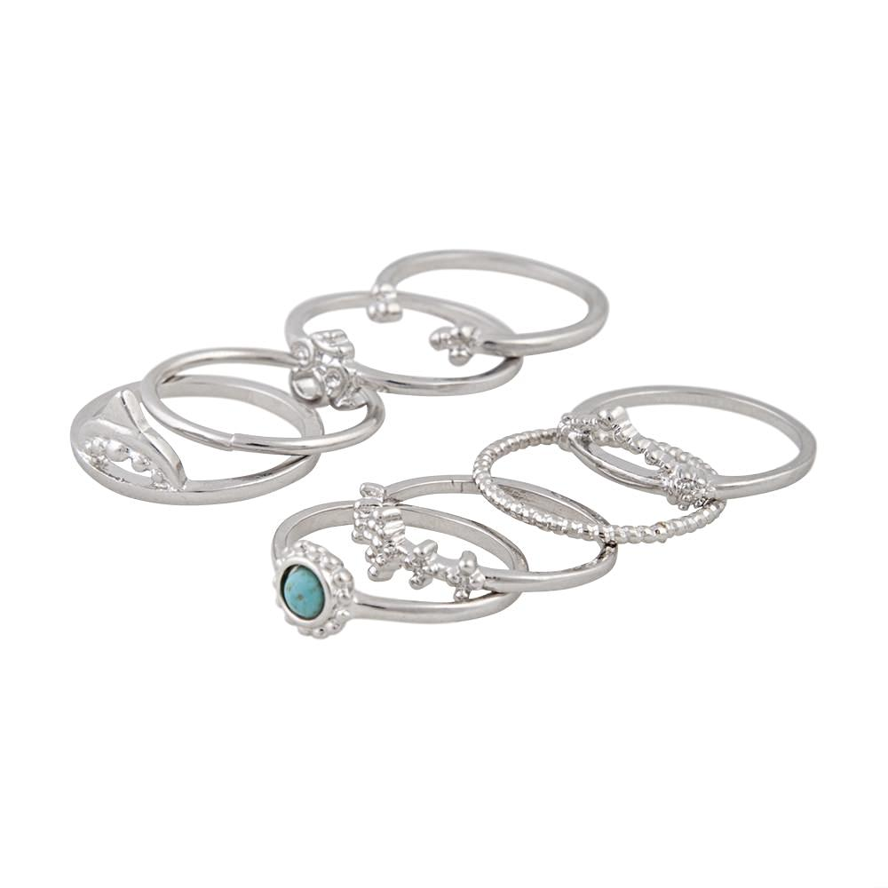 Fine Silver Textured Ring Pack