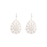 Rose Gold Drop Cut-out Pattern Earring