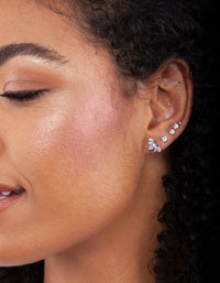 Cubic Zirconia Navette Barbell Earring - link has visual effect only