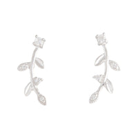 Sterling Silver Leaf And Diamente Vine Stud | Earrings | Lovisa Jewellery Australia | Gift Idea Girl