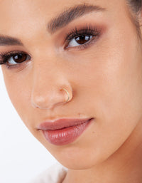 Gold Plain Metal Faux Body Hoops