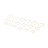 Mixed Metal Plain Faux Body Hoops - link has visual effect only